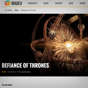 DEFIANCE OF THRONES